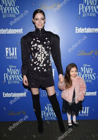 "Coco Rocha, Ioni James Conran. Coco Rocha and daughter Ioni James Conran attend a special screening of Disney's ""Mary Poppins Returns"", hosted by The Cinema Society, at the SVA Theatre, in New York"