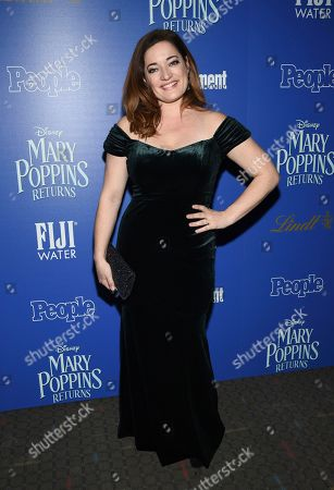 """Laura Michelle Kelly attends a special screening of Disney's """"Mary Poppins Returns"""", hosted by The Cinema Society, at the SVA Theatre, in New York"""