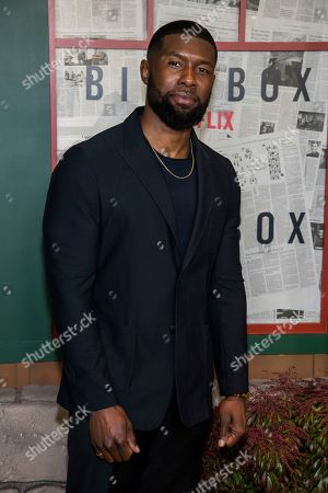 """Trevante Rhodes attends a screening of """"Bird Box"""" at Alice Tully Hall, in New York"""