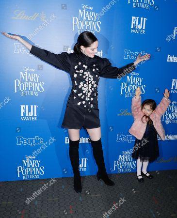 Stock Photo of Coco Rocha and daughter Ioni James Conran