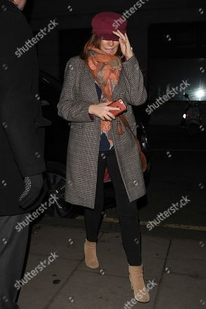 Editorial picture of Celebrities out and about, London, UK - 18 Dec 2018