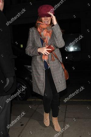 Stock Picture of Catherine Tate at BBC Radio 2