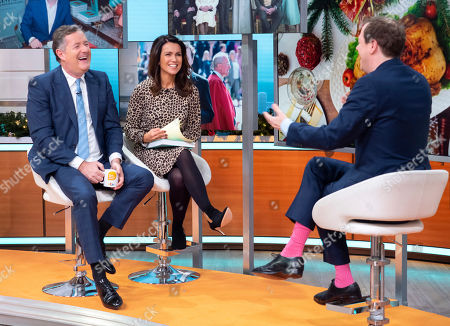 Piers Morgan and Susanna Reid with Tom Parker Bowles