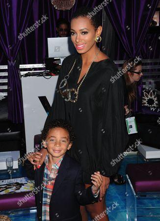 Solange Knowles and son Daniel Julez J. Smith