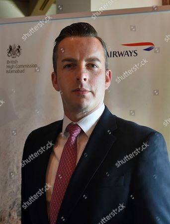 Robert Williams, head of sales for British Airways in Asia-Pacific and the Middle East, leaves after a press conference in Islamabad, Pakistan, . British Airways announced Tuesday it will resume flights to Pakistan in June, a decade after suspending them in the wake of the suicide truck bombing of the Marriott Hotel in Islamabad that killed dozens