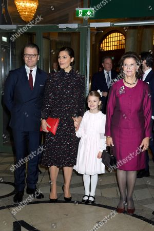 Prince Daniel, Crown Princess Victoria, Princess Estelle, Queen Silvia