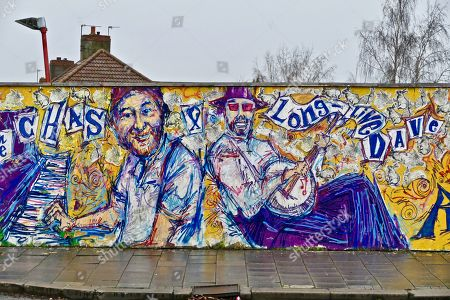 Editorial picture of Memorial graffitti to Chas Hodges from Chas and Dave, Cowley, Oxford, UK - 18 Dec 2018