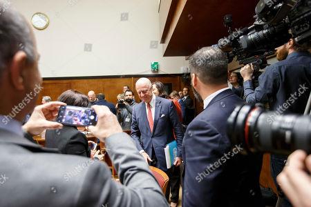 Editorial photo of Consultations on Syria, at the European headquarters of the United Nations, Geneva, Switzerland - 18 Dec 2018