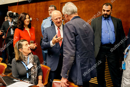 Editorial image of Consultations on Syria, at the European headquarters of the United Nations, Geneva, Switzerland - 18 Dec 2018