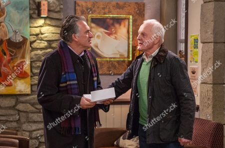 Ep 8369 Thursday 17th January 2019 - 1st Ep  Eric Pollard, as played by Chris Chittell, tells broke Bob Hope, as played by Tony Audenshaw, he need to pay his B&B bill.