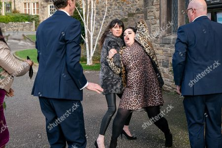 Ep 8359 Monday 7th January 2019 A vulnerable Chas Dingle, as played by Lucy Pargeter, leaves a message on Paddy Kirk's, as played by Dominic Brunt, phone - feeling the strain she sets off to find him. However, all hell breaks loose as an emotional Chas finally snaps and attacks Mandy, as played by Lisa Riley, as Jesse Grant, as played by Sandra Marvin, steps in. With Marlon Dingle, as played by Mark Charnock.
