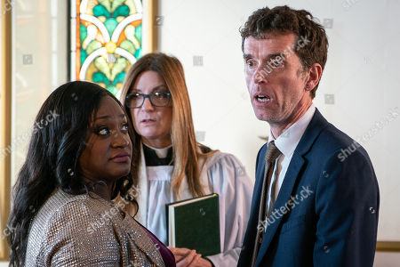 Ep 8359 Monday 7th January 2019 Marlon Dingle, as played by Mark Charnock, is disappointed when April reveals she's not attending the official wedding. Both Marlon and Jessie Grant, as played by Sandra Marvin, feel as though their chances of finding a second witness are slowly getting thinner, but they manage to coerce a passing Jimmy King into joining in the festivities. Later, as the ceremony gets underway they are rudely interrupted as Mandy Dingle, bursts through the door, much to the shock and awe of Marlon and Paddy. Jimmy is relieved when he's sent home, and an awkward Paddy is uncomfortable as Mandy takes her place as the second witness.