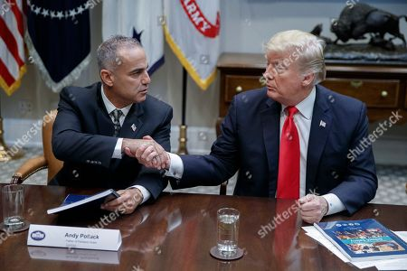 Trump Round Table.President Donald J Trump Roundtable Discussion Washington Stock