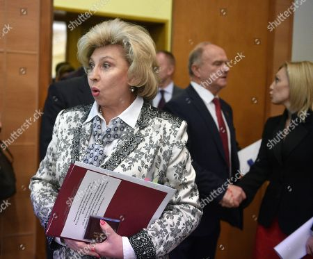 Tatyana Moskalkova, Human Rights Commissioner in Russia before the hearings.