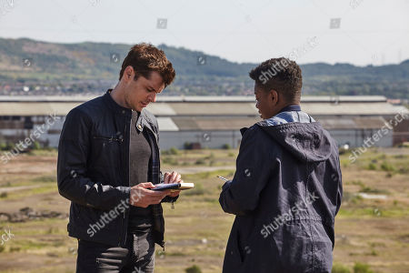 Stock Image of Kenny Doughty as DS Aiden Healy and Ibinabo Jack as DC Jacqueline 'Jac' Williams.
