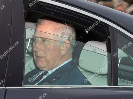Prince Charles arrives at the annual Christmas lunch in Buckingham Palace in London, Britain, 19 December 2018.