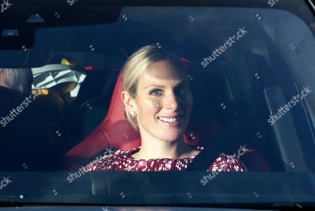 Stock Image of Zara Philips leaves after the annual Christmas lunch at Buckingham Palace in London, Britain, 19 December 2018.