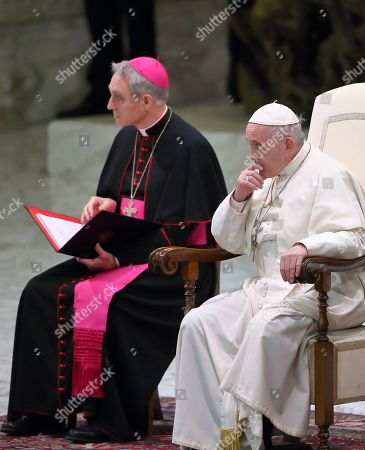 Editorial photo of Pope Francis weekly general audience, Vatican City - 19 Dec 2018