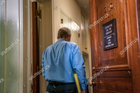 Rep. Jim Jordan, R-Ohio, a member of the House Oversight Committee, heads into a closed-door interview with former Attorney General Loretta Lynch, on Capitol Hill in Washington, . The GOP-led House Judiciary and Oversight Committees are continuing their probe of conduct by federal law enforcement officials in the investigation of President Trump's alleged Russia ties, and Hillary Clinton's emails