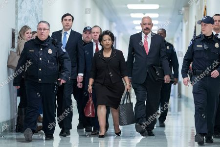 Editorial picture of Former US Attorney General Loretta Lynch testifies before two House panels, Washington, USA - 19 Dec 2018