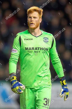 Adam Bogdan (#31) of Hibernian FC during the Ladbrokes Scottish Premiership match between Hibernian and Rangers at Easter Road, Edinburgh