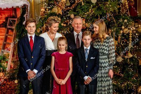 King Albert II, Queen Mathilde, King Philippe, Crown Princess Elisabeth, Prince Gabriel, Prince Emmanuel, Princess Eleonore, Princess Claire, Prince Aymeric, Prince Nicolas, Princess Astrid, Prince Lorenz, Princess Laetitia Maria