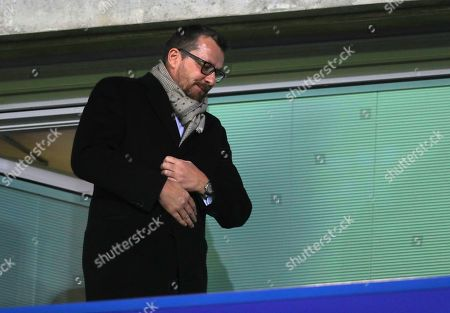 Former Fulham manager Slavisa Jokanovic watches the match at Chelsea, a club he used to play for