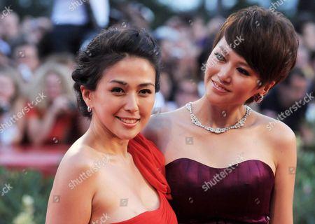Stock Photo of Wu Anya and Tan Weiwei