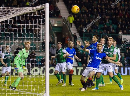 Stock Photo of Gareth McAuley of Rangers misses a chance to score.