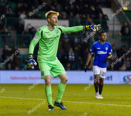Hibernian substitute goalkeeper Adam Bogdan.