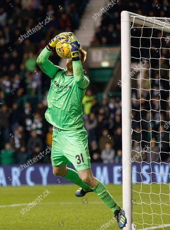 Hibernian substitute goalkeeper Adam Bogdan