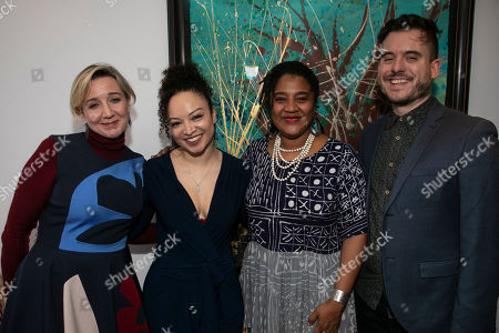 Josie Rourke (Artistic Director), Lynette Linton (Director), Lynn Nottage (Author) and Michael Longhurst