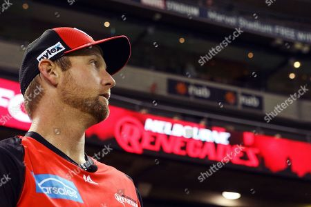 Cameron White of Melbourne Renegades looks on during the Big Bash match between Melbourne Renegades vs Perth Scorchers at Marvel Stadium, Melbourne