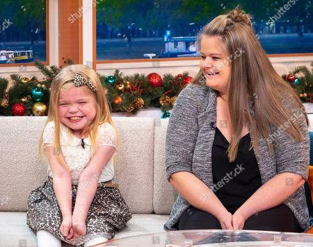Stock Photo of Ella Chadwick with mum Karen Hughes
