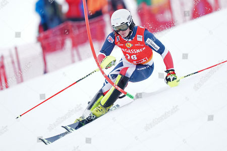 Laurie Taylor of Great Britain in action during the Mens Slalom race at the FIS Alpine Skiing World Cup in Saalbach Hinterglemm, Austria, 20 December 2018.