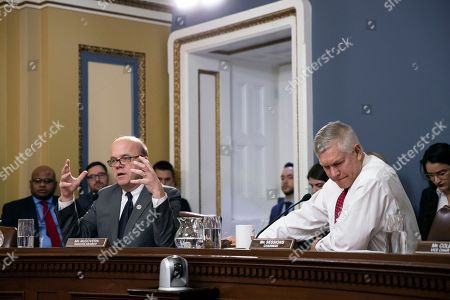 Pete Sessions, James P. McGovern. House Rules Committee Chairman Pete Sessions, R-Texas, right, listens to objections by Rep. James P. McGovern, D-Mass., the top Democrat on the panel, as the Rules Committee makes revisions to the government funding bill to include $5 billion for President Donald Trump's wall along the U.S.-Mexico border, at the Capitol in Washington