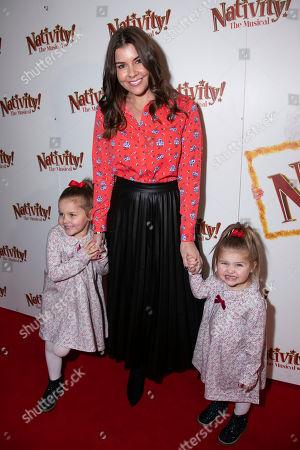 Imogen Thomas with Ariana Siena Horsley and Siera Aleira Horsley