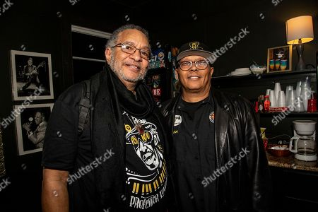 George Porter Jr., Ivan Neville. George Porter Jr., left, and Ivan Neville pose at The Professor Longhair 100th Birthday Tribute Concert at Tipitina's, in New Orleans