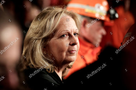 Stock Picture of Former Prime Minister of North Rhine-Westphalia Hannelore Kraft attends the farewell event for the German hard coal mining industry at the Prosper-Haniel coal mine in Bottrop, Germany, 21 December 2018. The last German coal mine will be closed on 21 December 2018, thus ending an era of over 250 years industrial history of the Ruhr area.