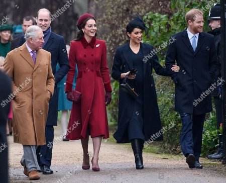 Prince Charles, Prince William, Catherine Duchess of Cambridge, Meghan Duchess of Sussex and Prince Harry