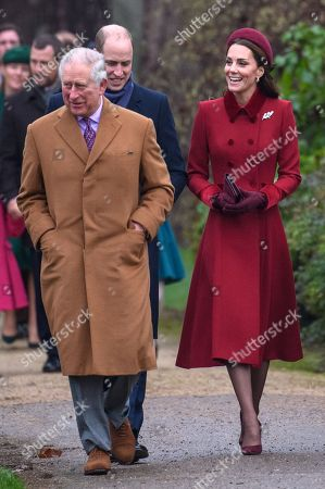 Prince Charles, Prince William and Catherine Duchess of Cambridge