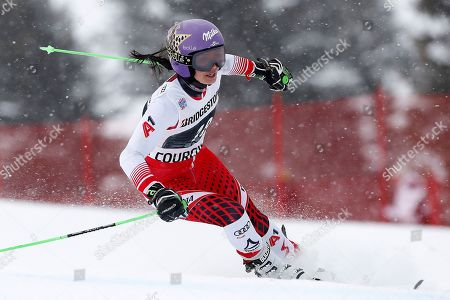 Anna Veith of Austria in action during the Women's Giant Slalom race at the FIS Alpine Skiing World Cup in Courchevel, France, 21 December 2018.