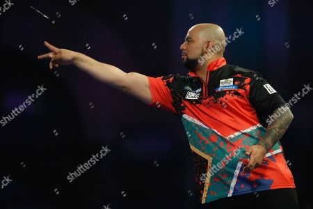 Devon Peterson during the World Darts Championships 2018 at Alexandra Palace, London