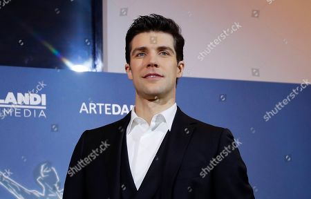 Italian renown dancer Roberto Bolle poses for photographers during the unveiling of his new TV show, in Milan, Italy