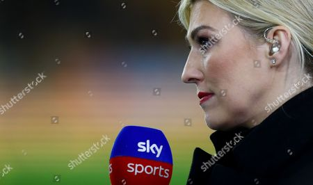 Kelly Cates working for Sky Sports