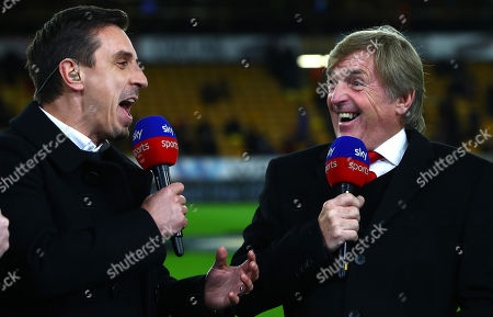 Kenny Dalglish pulls a face as he reacts to a comment from Sky Sports pundit Gary Neville