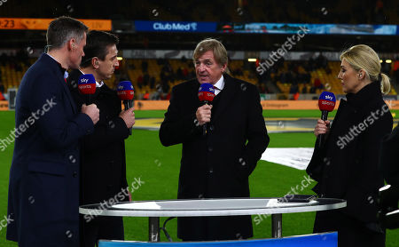 Kenny Dalglish working alongside his daughter Kelly Cates on Sky Sports