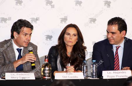 Kate Del Castillo at a press conference at Club 51 after 3 years of not being able to be in Mexico, accused by the Government of Enrique Pena Nieto for alleged links with the most powerful drug trafficker in the world Joaquin Guzman Loera 'El Chapo'