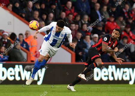 Leon Balogun, of Brighton & Hove Albion bats Callum Wilson of AFC Bournemouth to a header - AFC Bournemouth v Brighton & Hove Albion, Premier League, Vitality Stadium, Bournemouth - 22nd December 2018