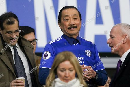 Vincent Tan owner of Cardiff City during the Premier League match between Cardiff City and Manchester United at the Cardiff City Stadium, Cardiff